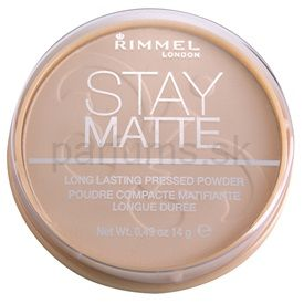 Rimmel Stay Matte púder odtieň 001 Transparent (Long Lasting Pressed Powder) 14 g
