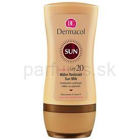 Dermacol Sun Water Resistant vodeodolné mlieko na opaľovanie SPF 20 (Water Resistant Sun Milk) 200 ml