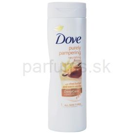 Dove Purely Pampering Shea Butter výživné telové mlieko bambucké maslo a vanilka (Nourishing Lotion) 400 ml