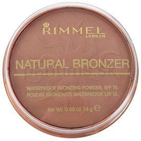 Rimmel Natural Bronzer vodeodolný bronzujúci púder SPF 15 odtieň 026 Sun Kissed (Waterproof Bronzing Powder) 14 g