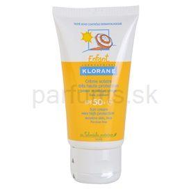 Klorane Enfant opaľovací krém pre deti SPF 50+ (Sun Cream) 50 ml