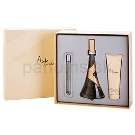 Rihanna Nude darčeková sada I. parfémovaná voda 100 ml + parfémovaná voda 10 ml + telové mlieko 90 ml