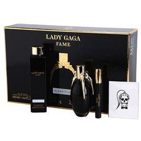 Lady Gaga Fame Black Fluid darčeková sada III. parfémovaná voda 100 ml + sprchový gel 200 ml + Vlasová kozmetika - L´Oréal Professionnel - Aktivačný roztok Platinium + mini roller ball 10 ml