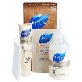 Phyto Color farba na vlasy 8CD Strawberry Blond 4 pcs
