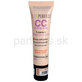 Bourjois 123 Perfect CC krém pre bleskovo bezchybný vzhľad odtieň Ivory 31 SPF 15 (3 Pigments Colour Correction) 30 ml