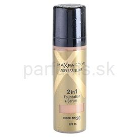 Max Factor Ageless Elixir make-up odtieň 30 Porcelain SPF 15 (2 in 1 Foundation + Serum) 30 ml