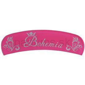 Bohemia Crystal Bohemia Glossy sklenený oblúkový pilník lesklý odtieň Pink