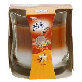 Glade Sandalwood and Vanilla Vonná sviečka 135 g cena od 0,00 €