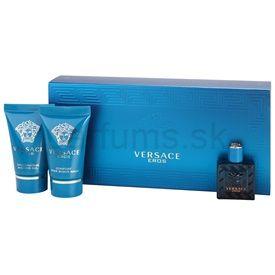 Versace Eros darčeková sada IV. toaletná voda 5 ml + sprchový gel 25 ml + balzam po holení 25 ml