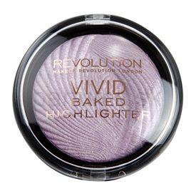 Makeup Revolution Vivid Baked Highlighter rozjasňujúci púder odtieň Pink Lights 7,5 g