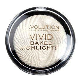 Makeup Revolution Vivid Baked Highlighter rozjasňujúci púder odtieň Golden Lights 7,5 g